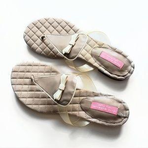 Isaac Mizrahi Beige Sandals Size 7.5
